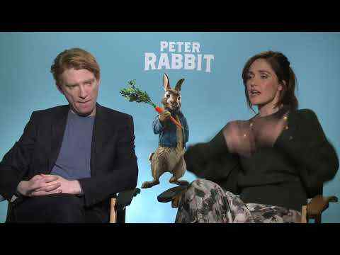 Peter Rabbit - Domhnall Gleeson & Rose Byrne Interview