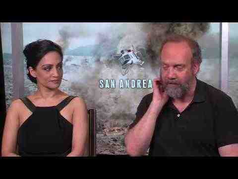 San Andreas - Archie Panjabi & Paul Giamatti Interview